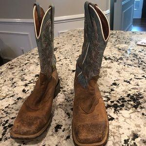 Dan Post San Michelle cowboy boots blue tan 8.5